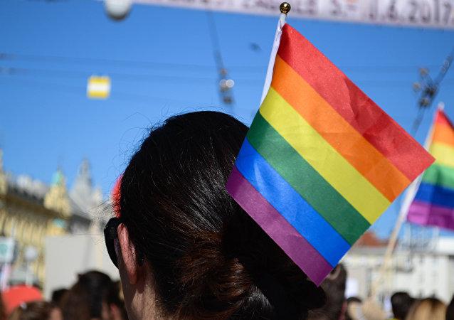La bandera de la comunidad LGBT