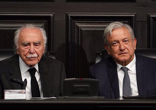 Carlos Payán Velver y el presidente Andrés Manuel López Obrador