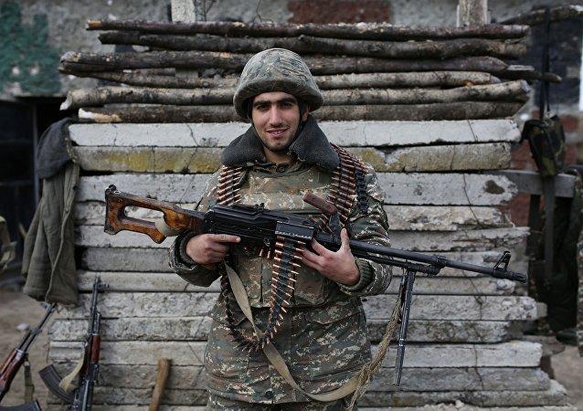 Un militar armenio (archivo)