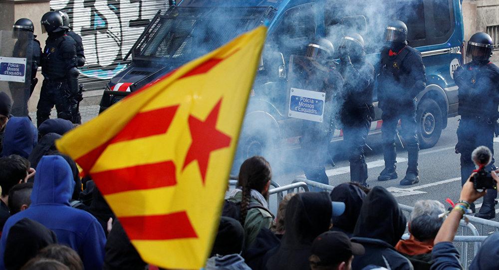 Las protestas del 21D en Barcelona, Cataluña