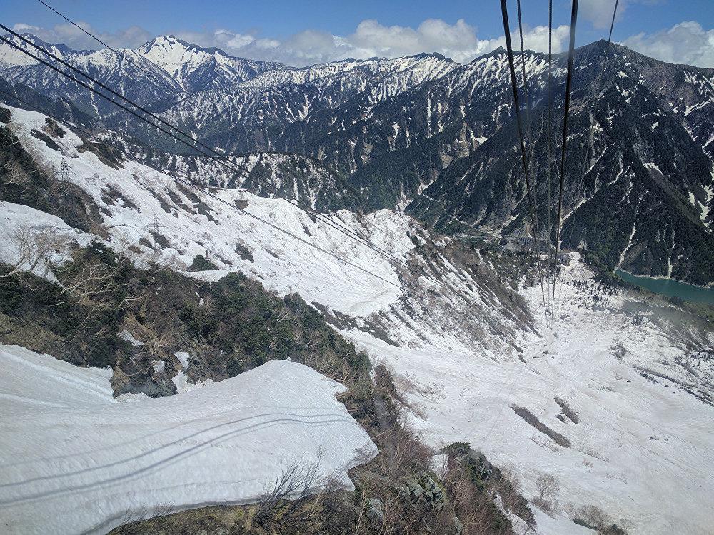 El teleférico Tateyama en los Alpes japoneses