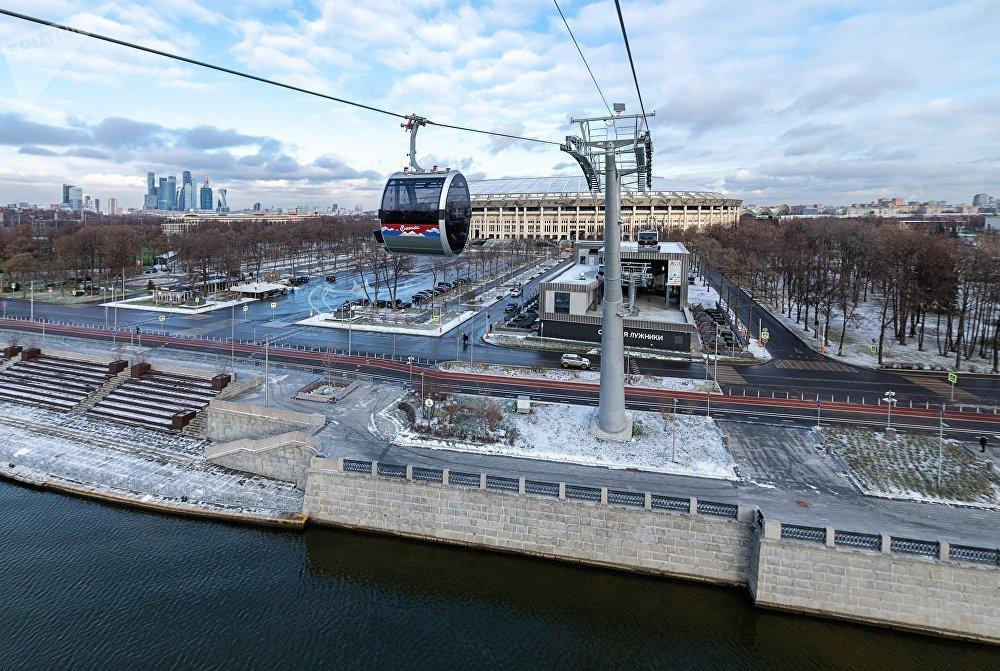 Teleférico de Vorobievi Gori en Moscú