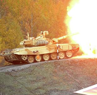 Tanque T-90  a la feria Russia Arms Expo 2013 (Archivo)