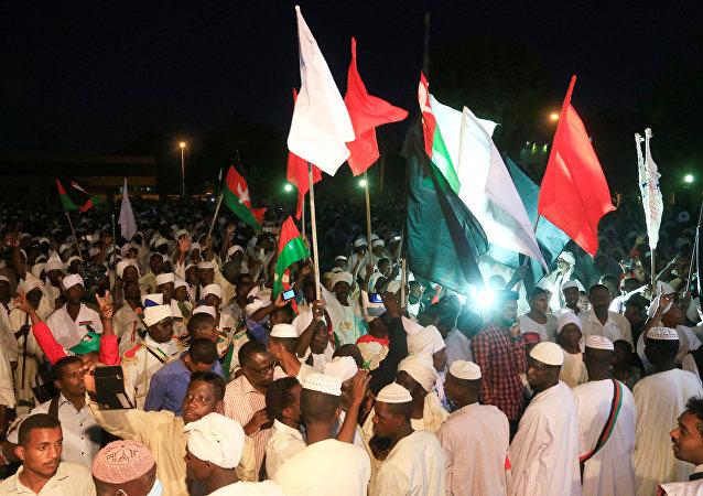 La manifestación en Sudán