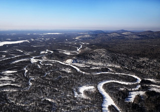 El paisaje de la región de Jabárovsk