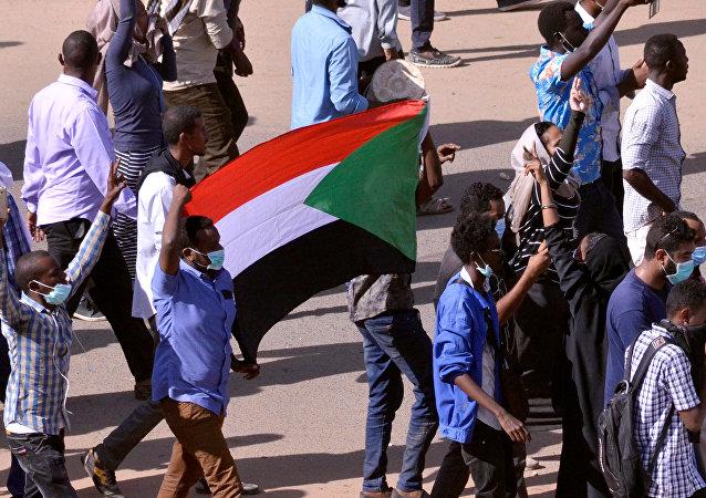 Manifestación en Sudán