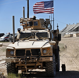Un vehículo blindado de EEUU en Siria (archivo)