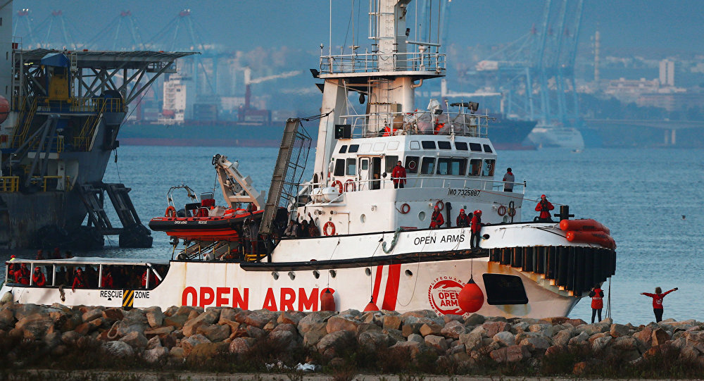 Barco de la ONG española Open Arms (archivo)