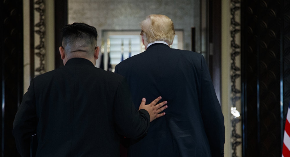 Kim Jong-un, líder norcoreano, y Donald Trump, presidente de EEUU