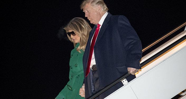 Donald Trump, presidente de EEUU, y Melania Trump, su esposa