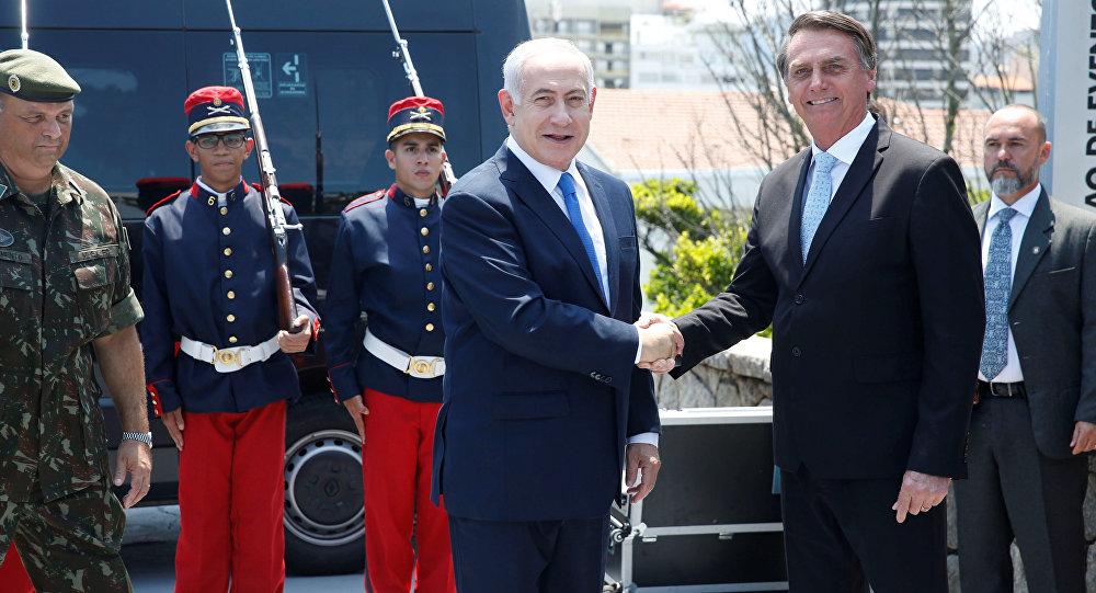 El primer ministro de Israel, Benjamín Netanyahu, y el presidente electo de Brasil, Jair Bolsonaro