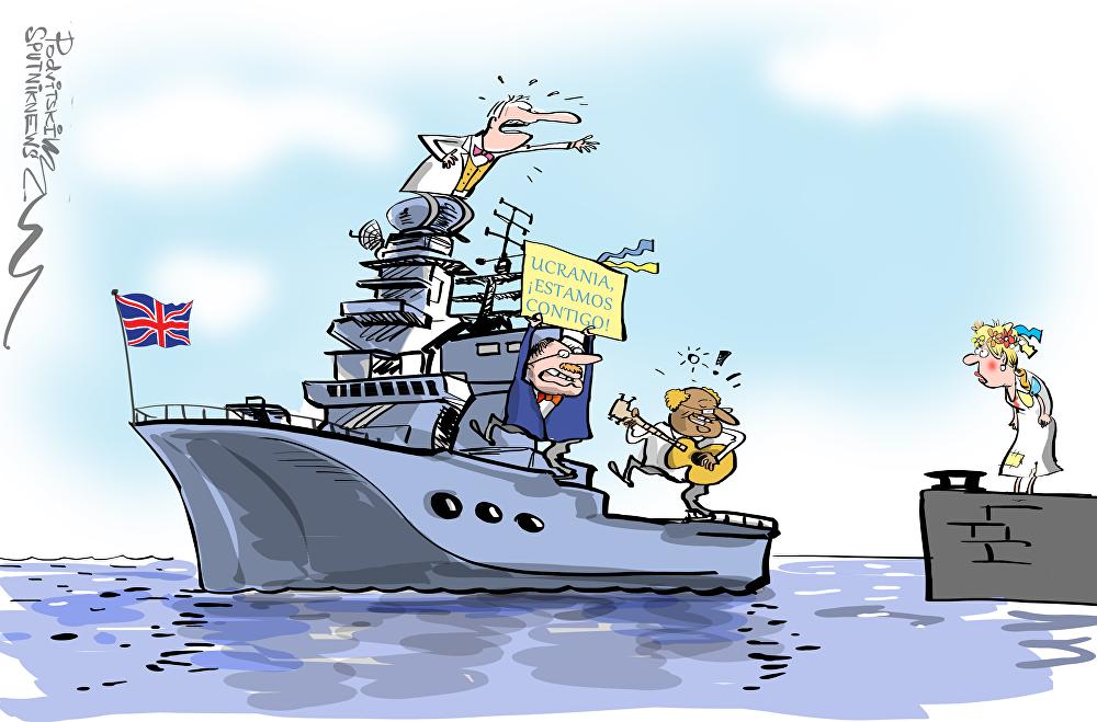 Reino Unido envía señales ambiguas: iEstamos contigo, Ucrania!