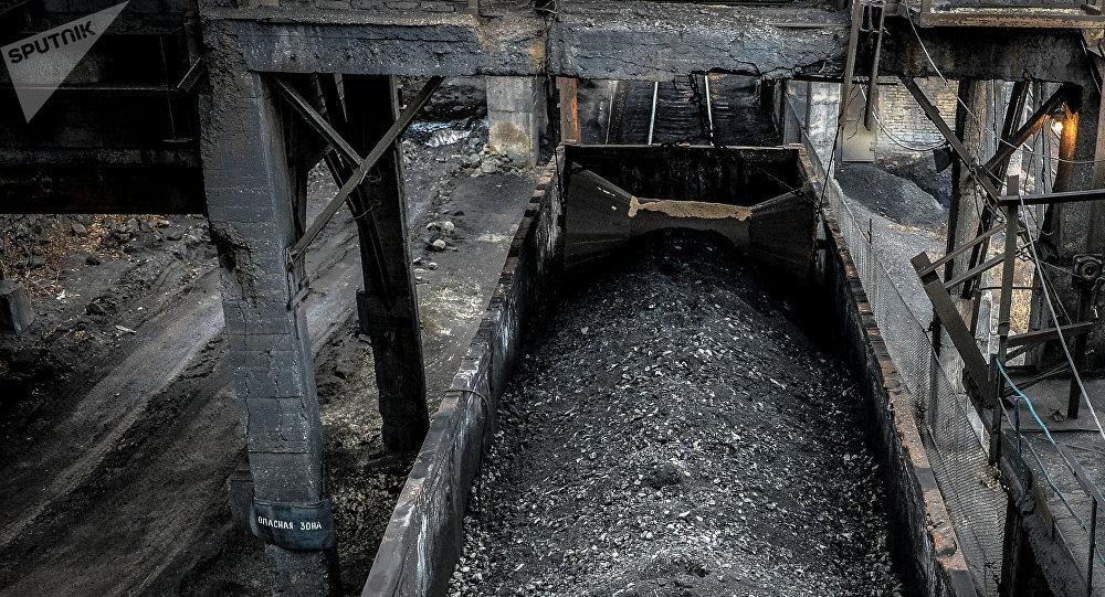 Una mina de carbón en Donbás