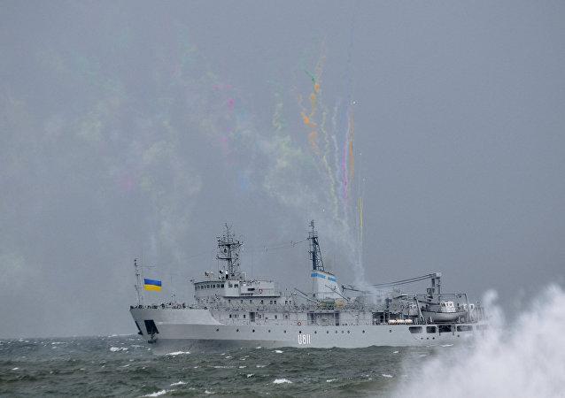 Un buque ucraniano en el mar Negro (archivo)
