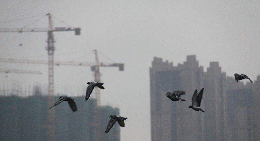Unos edificios de Changshá, China