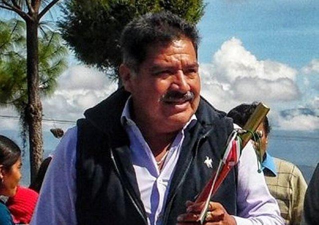 Alejandro Aparicio, presidente municipal de la ciudad de Tlaxiaco (México)