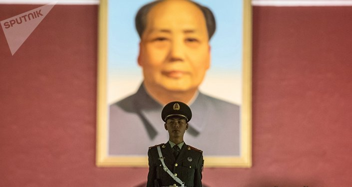 Un retrato de Mao Zedong en la Ciudad Prohibida de Pekín