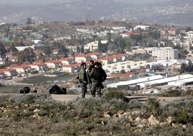 Paramilitares israelíes en Cisjordania