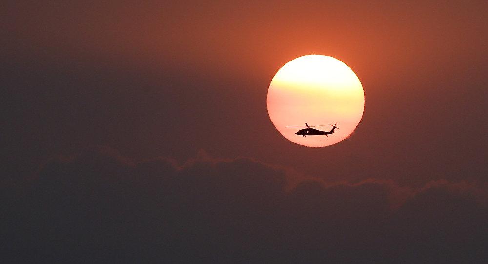 Helicoptero de los guardabosques colombianos (archivo)