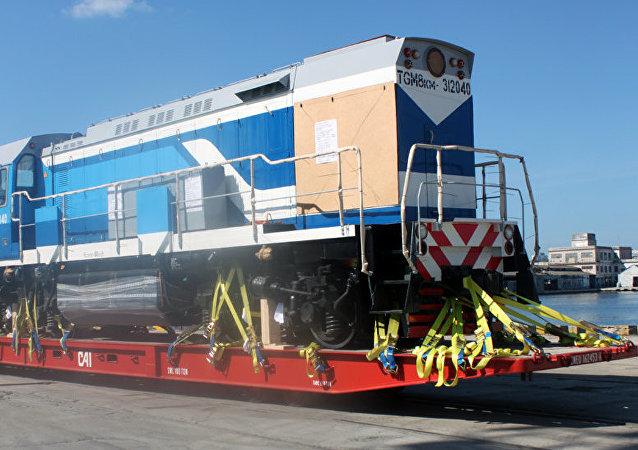 Locomotora de la compañía rusa Sinara Transport Machines (STM)