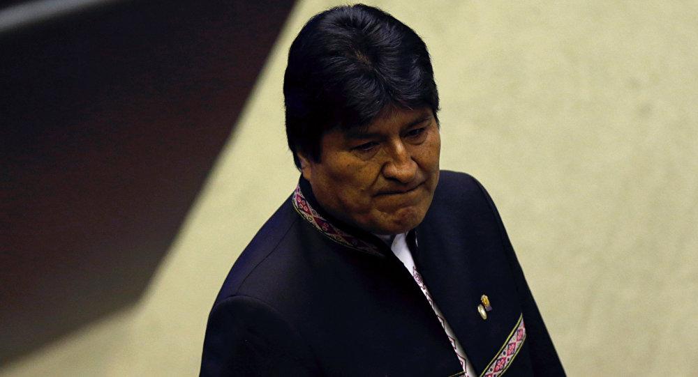 Evo Morales, presidente de Bolivia, asiste a la ceremonia de toma de posesión del nuevo presidente de Brasil, Jair Bolsonaro, en el Congreso Nacional de Brasil el 1 de enero de 2019
