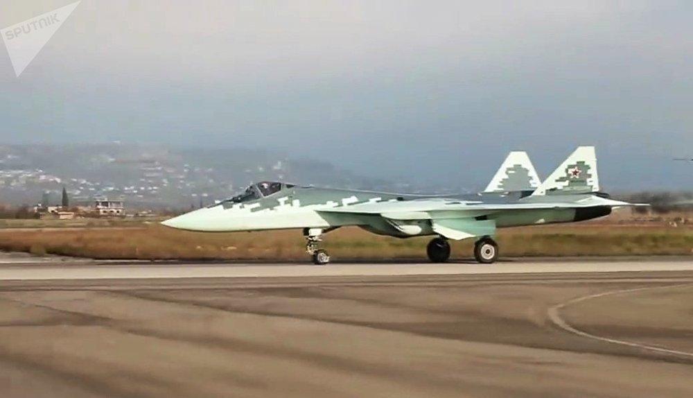 Un Su-57 en Siria