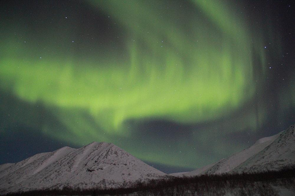 Aurora boreal cerca de Kírovsk