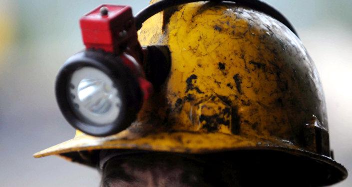 Casco de un minero (archivo)