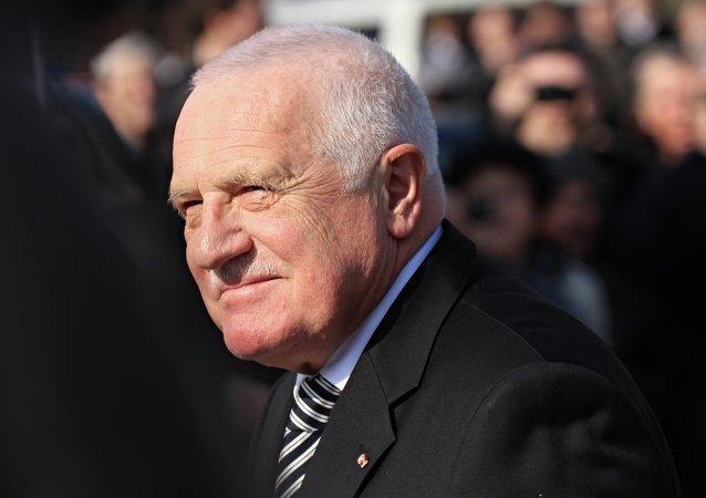 El expresidente de la República Checa, Václav Klaus