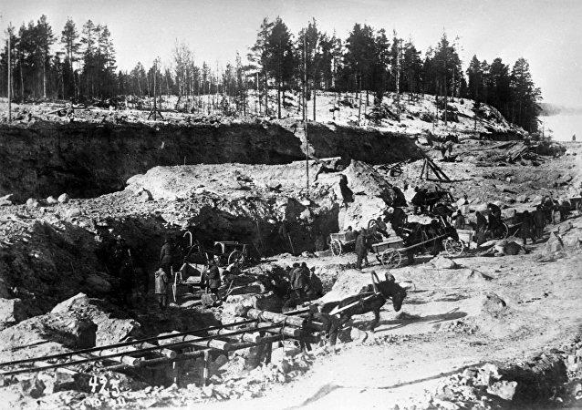 El canal Mar Blanco-Mar Báltico, construido por prisioneros del GULAG a inicios de los años 1930