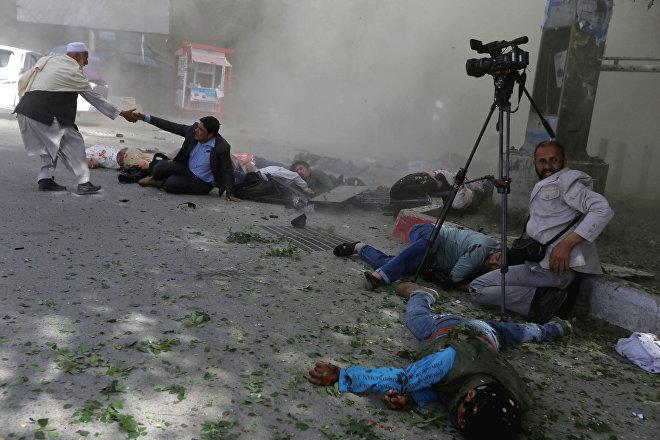Atentado en Kabul (Afganistán) en el que fallecieron varios periodistas, el 30 de abril de 2018