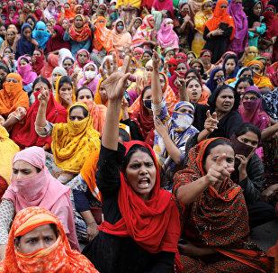 Las protestas de los trabajadores textiles en Bangladés