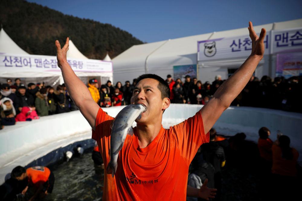 Festival de la trucha en Corea del Sur