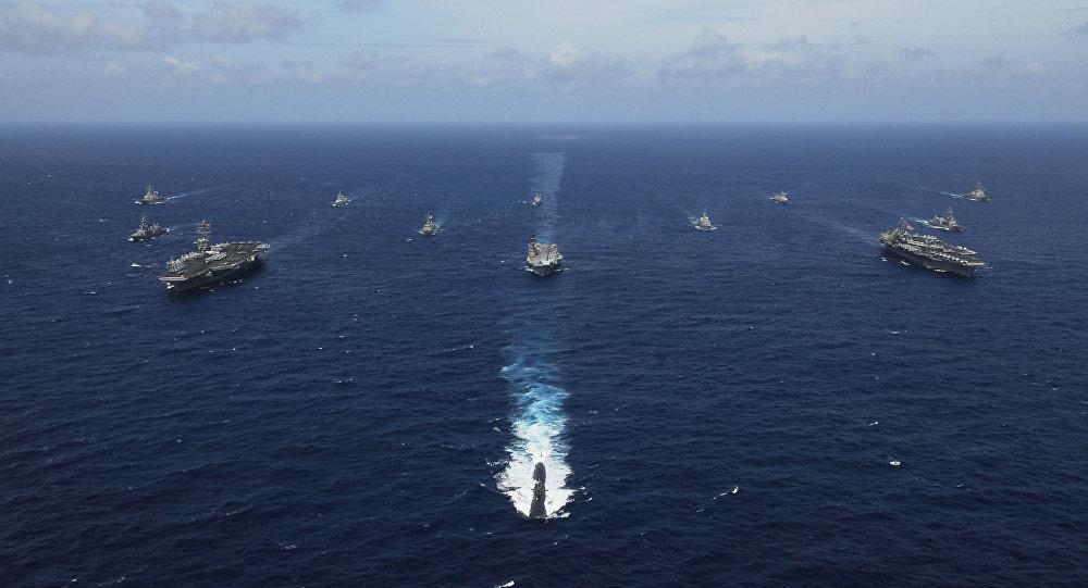 Las maniobras navales en el Golfo de Bengala