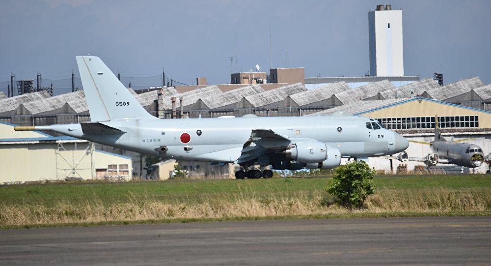 Un patrullero P-1 de la Fuerza de Autodefensa de Japón