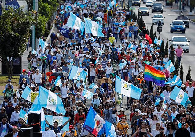 Protestas contra el presidente de Guatemala, Jimmy Morales