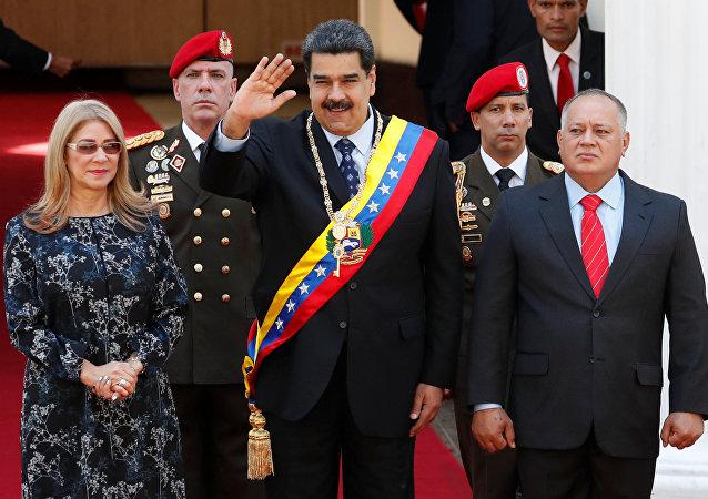 Nicolás Maduro, presidente de Venezuela, antes del discurso ante la Asamblea Nacional Constituyente (ANC)
