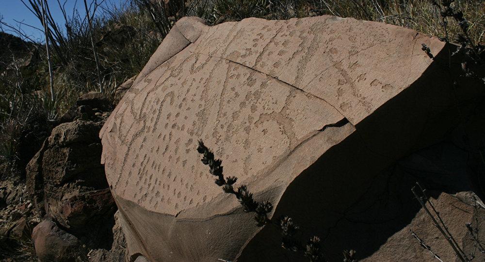 Petrograbados encontrados en el municipio mexicano de Mina, Nuevo León