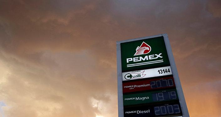 El logo de Pemex