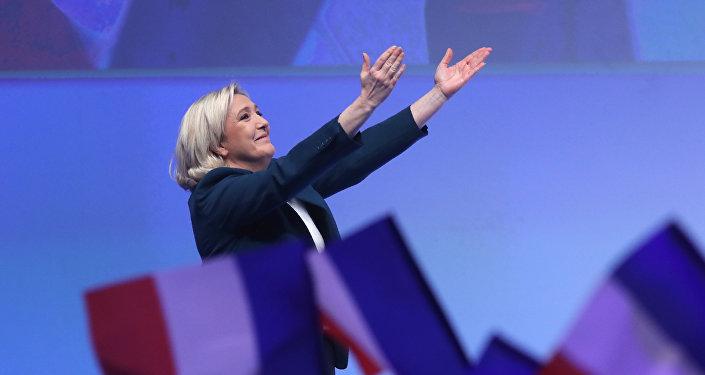 Marine Le Pen, líder de Reagrupación Nacional