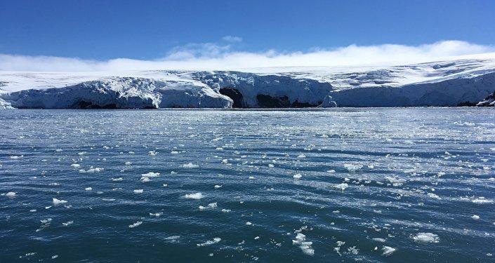 Hielo derretido en Antártida
