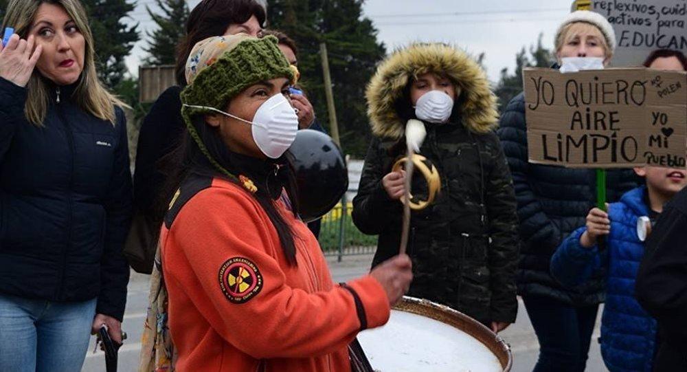Movilización por la situación medioambiental y de salud de la población de Puchuncaví y Quintero, Chile.