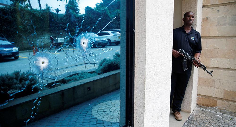 Lugar del atentado en Nairobi