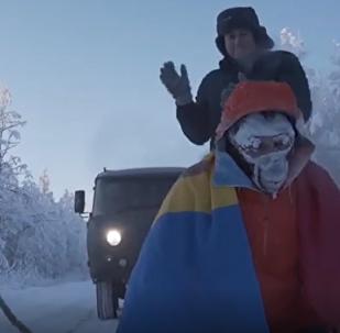 Un atleta recorre 50 kilómetros en el extremo frío siberiano
