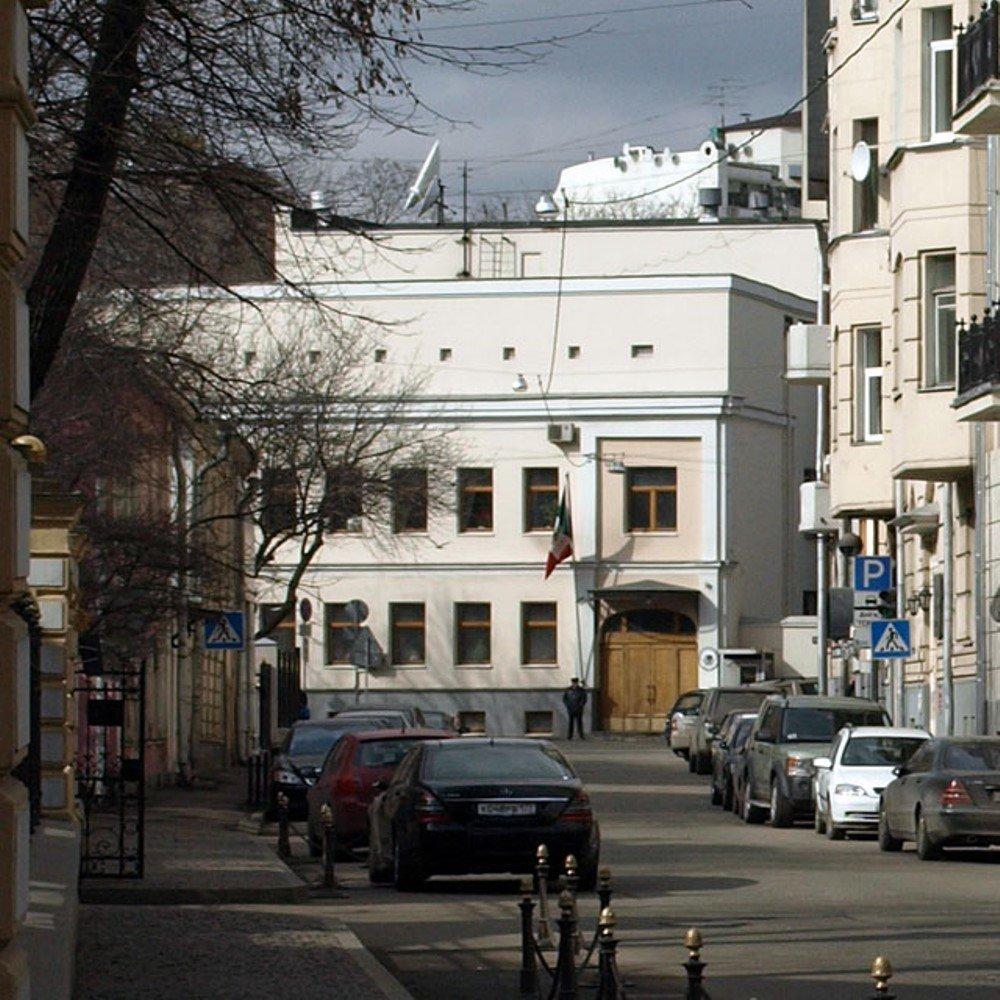 La residencia del embajador de México en Moscú