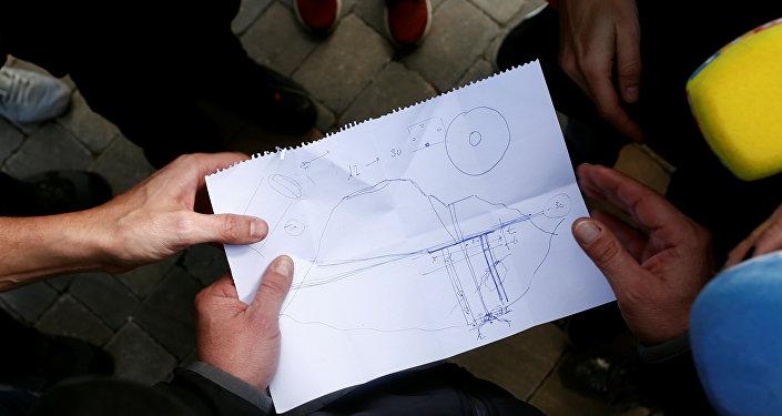 Un dibujo del pozo a donde cayó el niño Julen en España