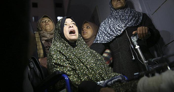 Mujeres en un hospital de Palestina