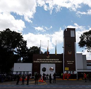 La Escuela de Cadetes General Santander de la Policía, en Bogotá, Colombia