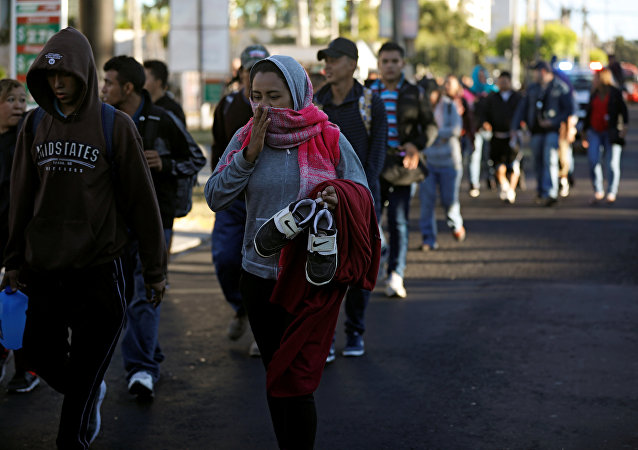Migrantes centroamericanos avanzan hacia EEUU (imagen referencial)