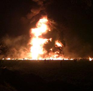 Fuertes imágenes: la gente en llamas trata de escapar del enorme incendio en México